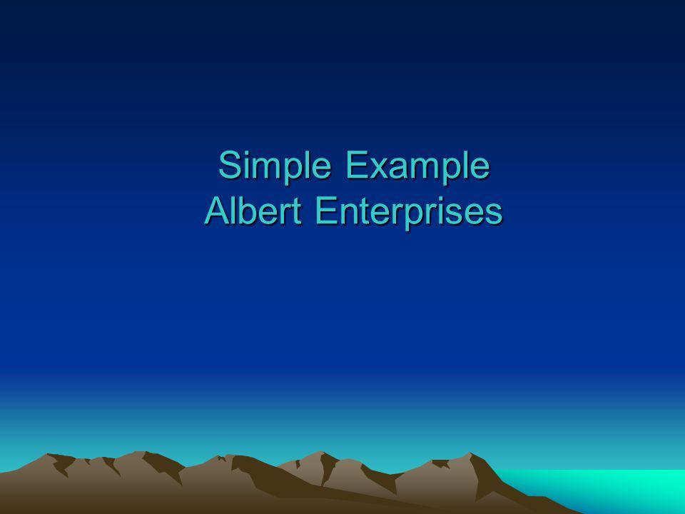 Simple Example Albert Enterprises