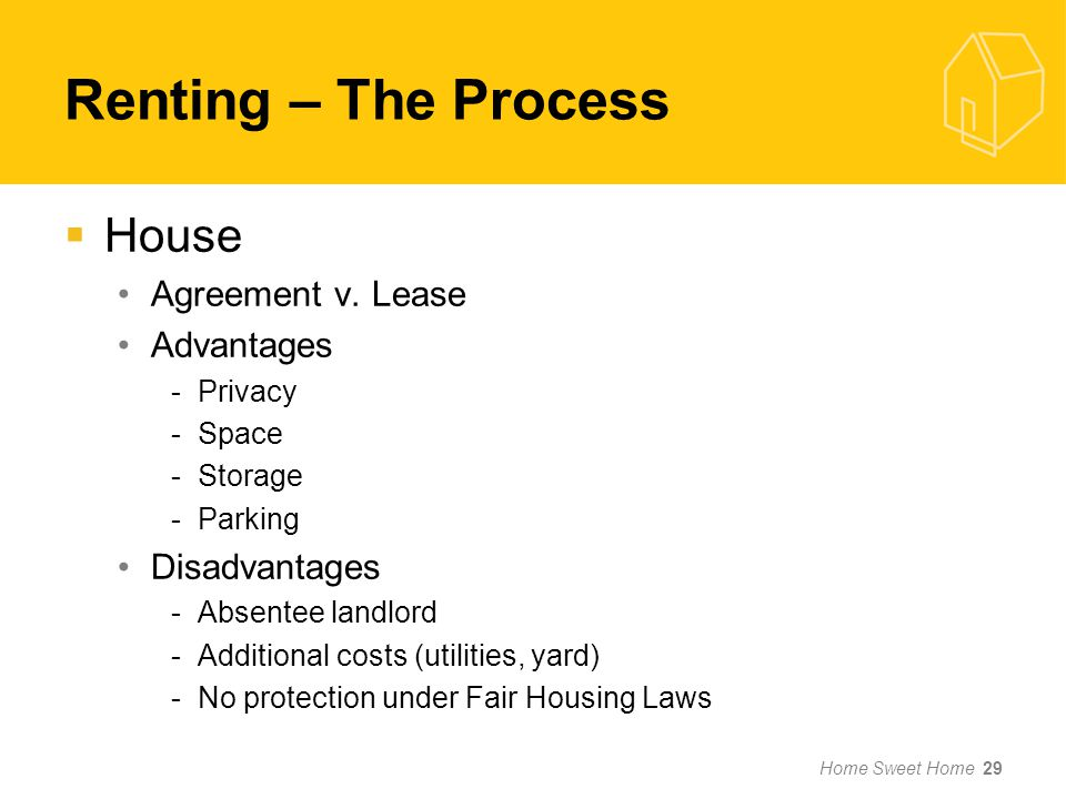 Renting – The Process House Agreement v.