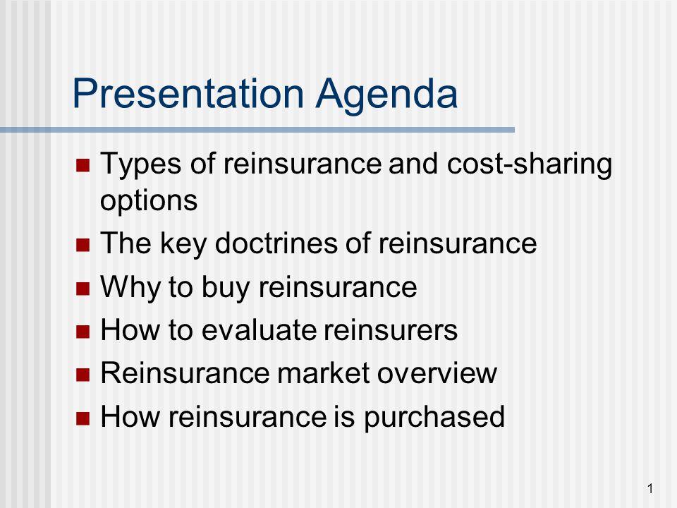32 Reinsurance Market Reinsurance Association of America 1982 - 68 reinsurance companies (84 total members) 2011 - 26 reinsurance companies (40 total members)