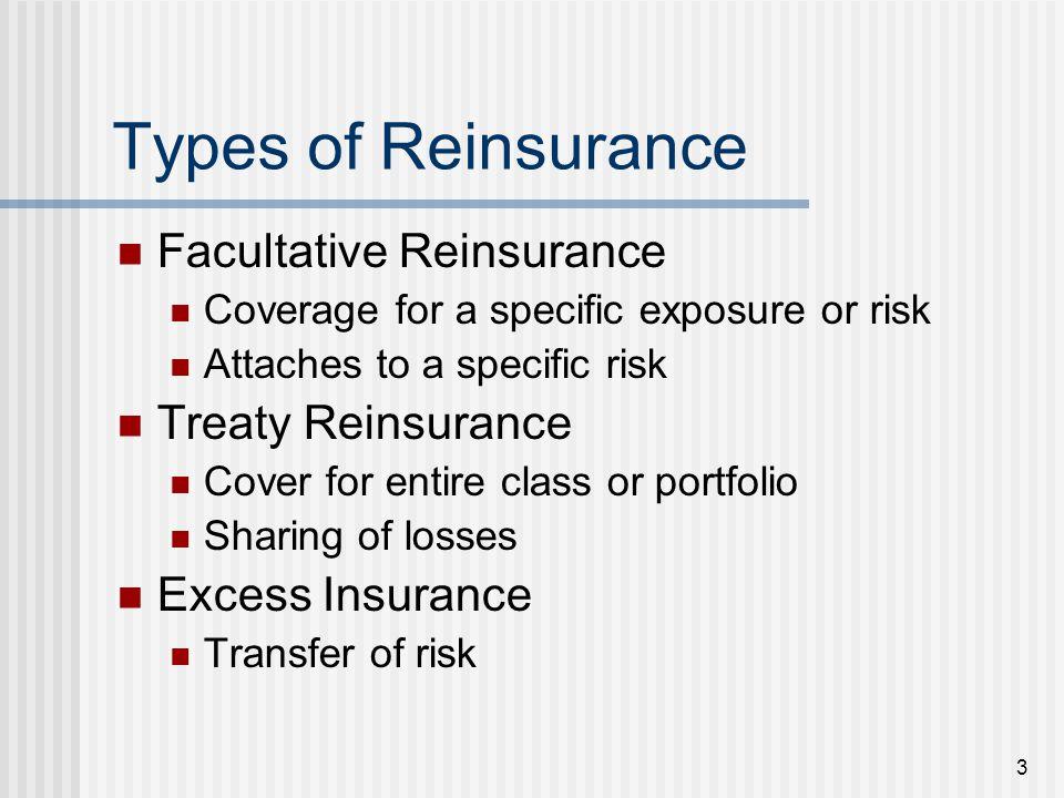 4 Types of Reinsurance