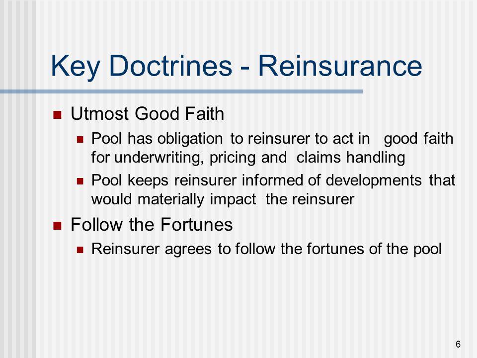 17 Evaluation of Reinsurers