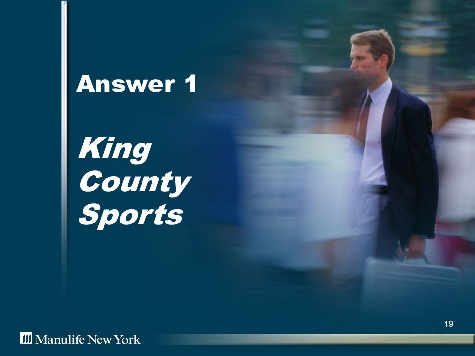Answer 1 King County Sports 19