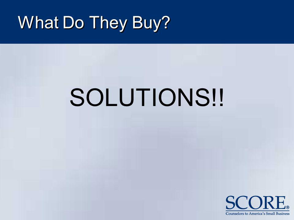 What Do They Buy? SOLUTIONS!!
