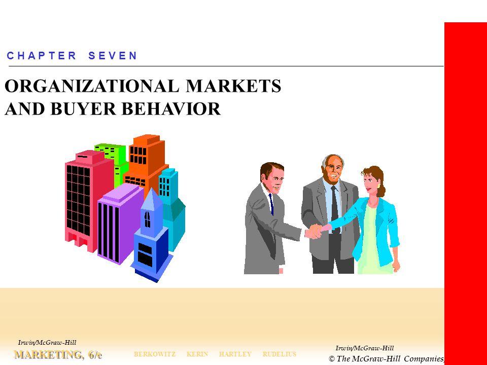 Irwin/McGraw-Hill © The McGraw-Hill Companies, Inc., 2000 MARKETING, 6/e BERKOWITZ KERIN HARTLEY RUDELIUS Irwin/McGraw-Hill C H A P T E R S E V E N OR