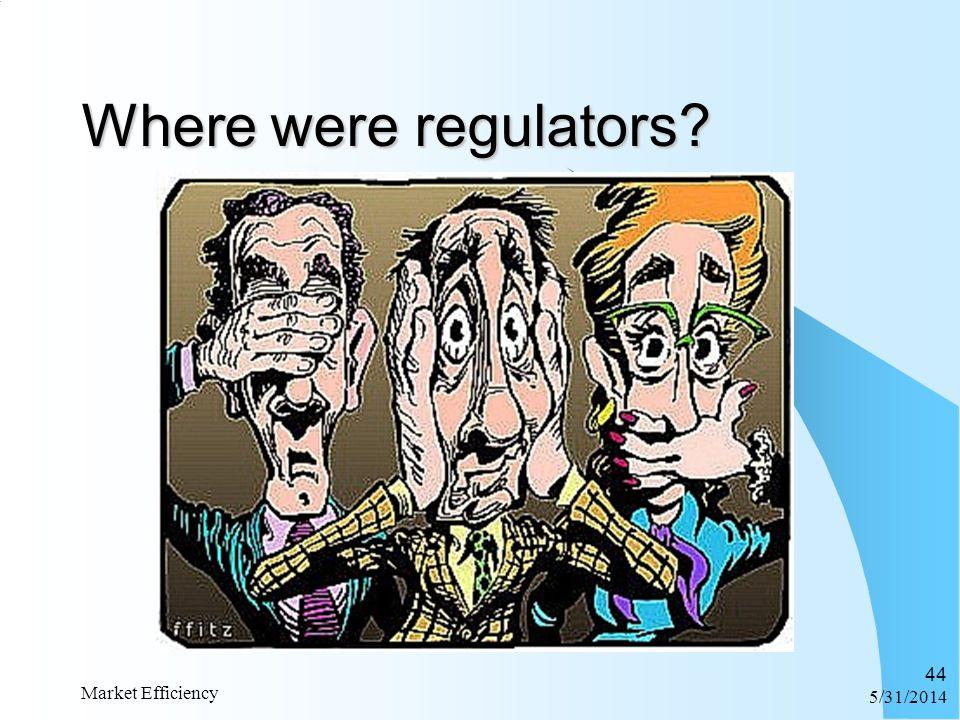 6/1/2014 Market Efficiency 44 Where were regulators?