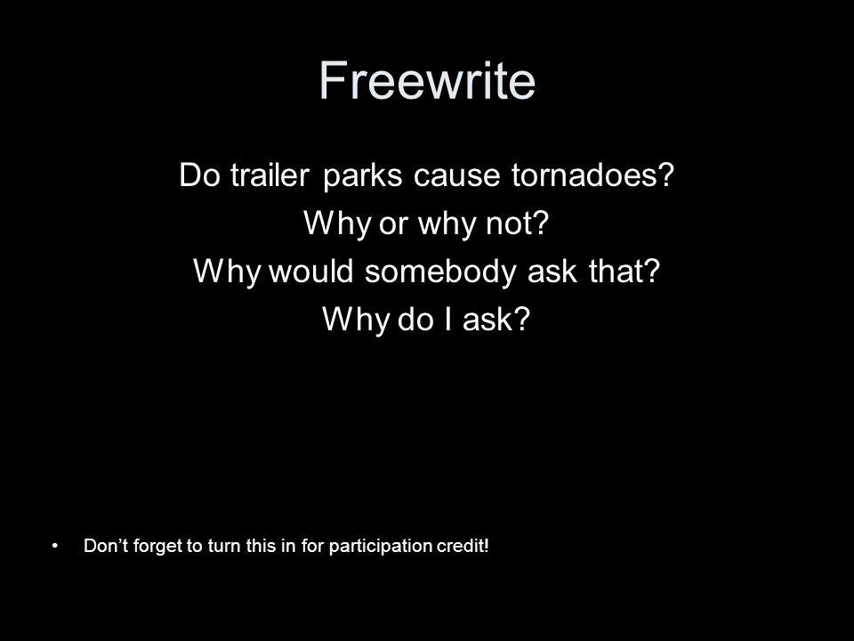 Tornados and trailer parks
