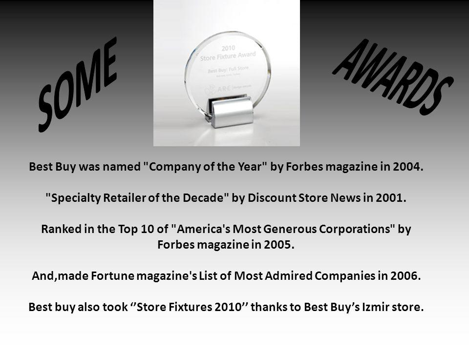 Best Buy was named Company of the Year by Forbes magazine in 2004.