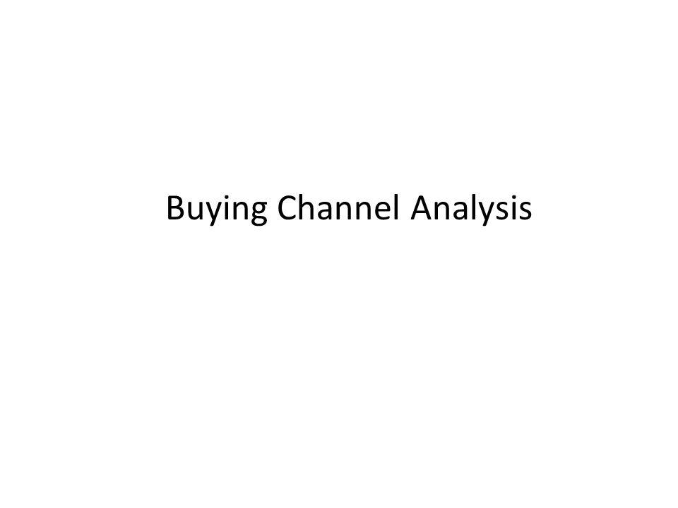 Buying channel - is a process to specify a need, locate the supplier of that need, determine the terms of acquiring the need and executing an agreement for the supplier to fulfill the need.