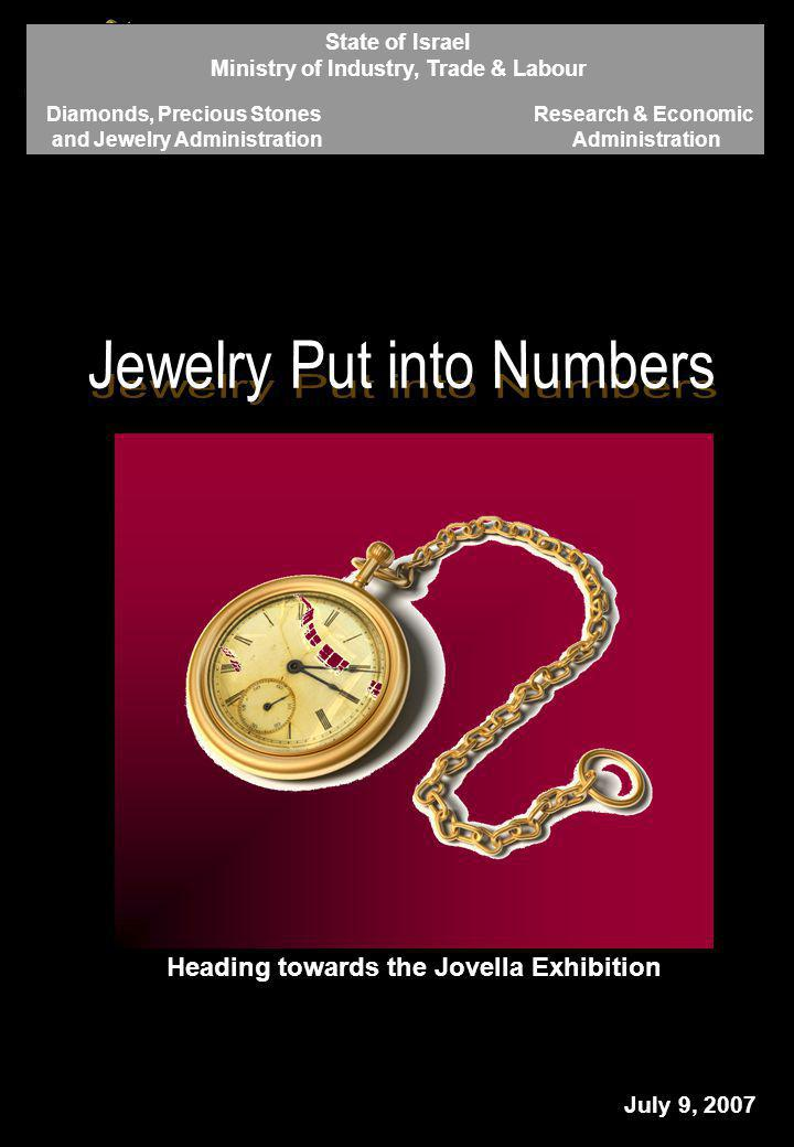 - 1 - Heading towards the Jovella Exhibition July 9, 2007 State of Israel Ministry of Industry, Trade & Labour Diamonds, Precious Stones and Jewelry A