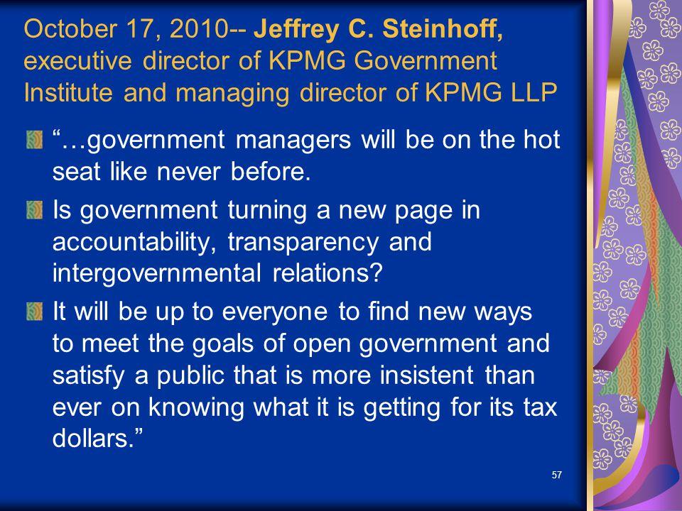 October 17, 2010-- Jeffrey C.