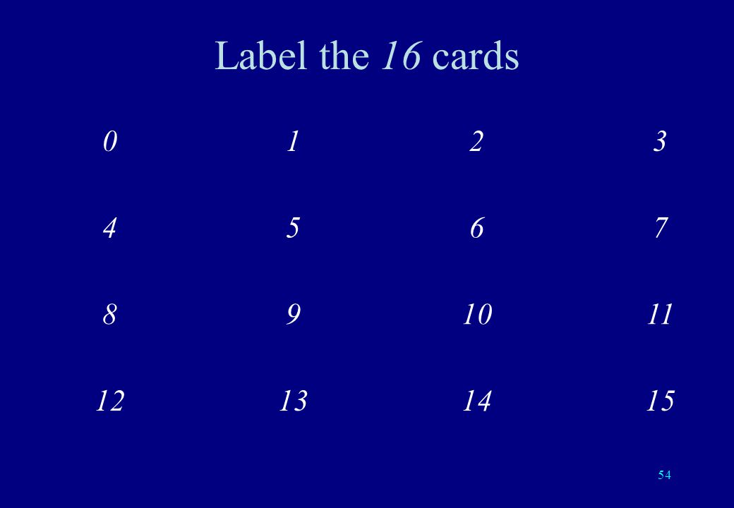 53 16 Cards 4 questions