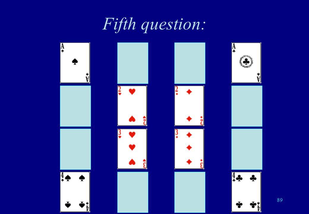 88 Ask the 5 questions so that the answers are: YYYYYYYYNNYYNNYYYNYN YNYYNYNYNYYNNNNYNNYY NYYYNNYYNYNYNNNNYNYY NNYYYNNYNNNNNNYNNNYN