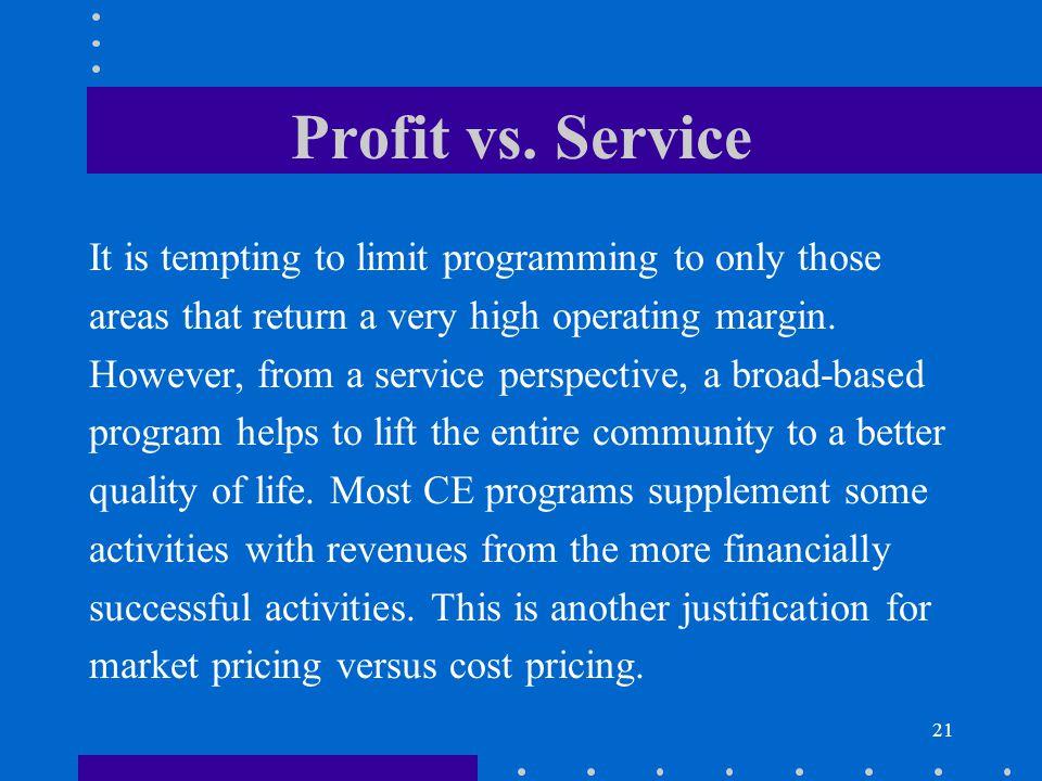 21 Profit vs.