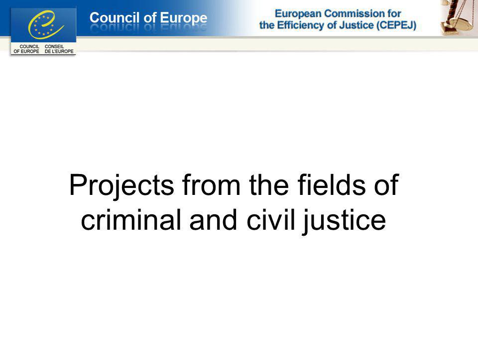 Projects from the fields of criminal and civil justice