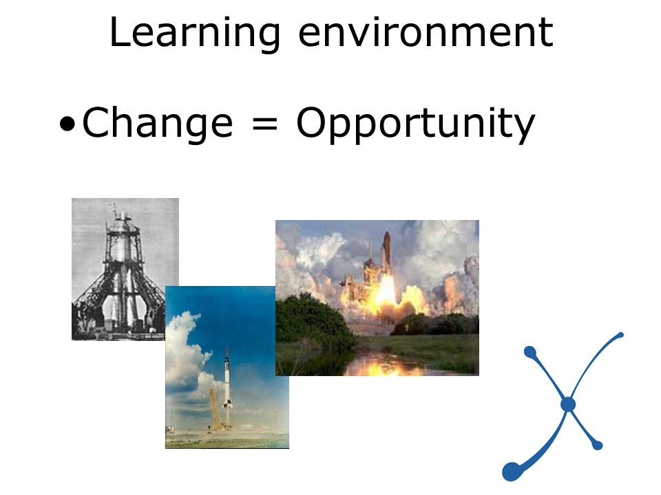 Learning environment Change = Opportunity
