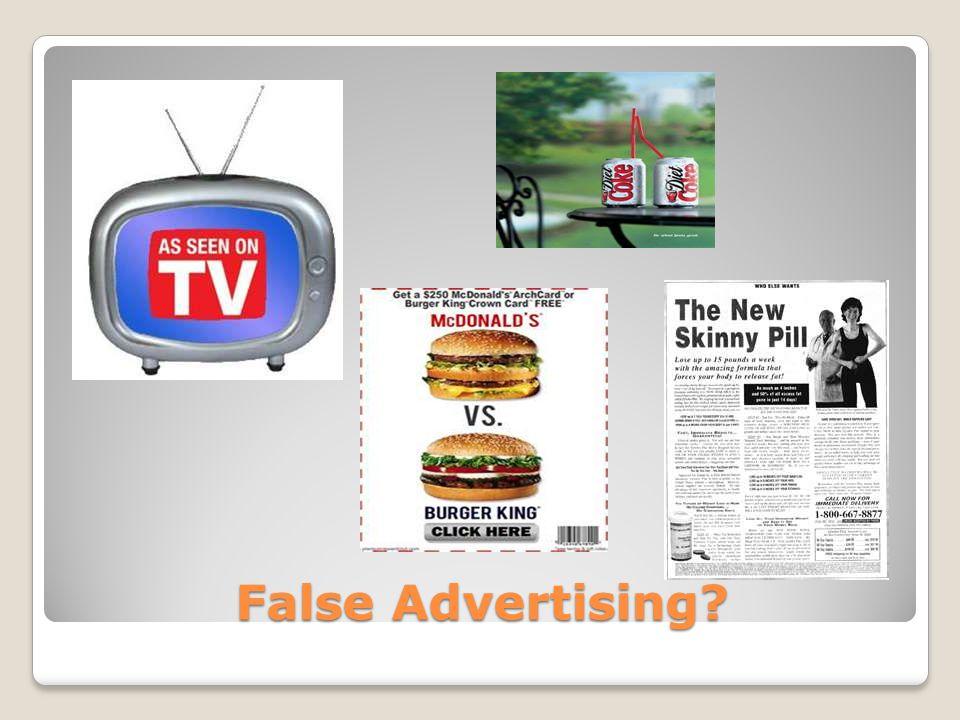 False Advertising?