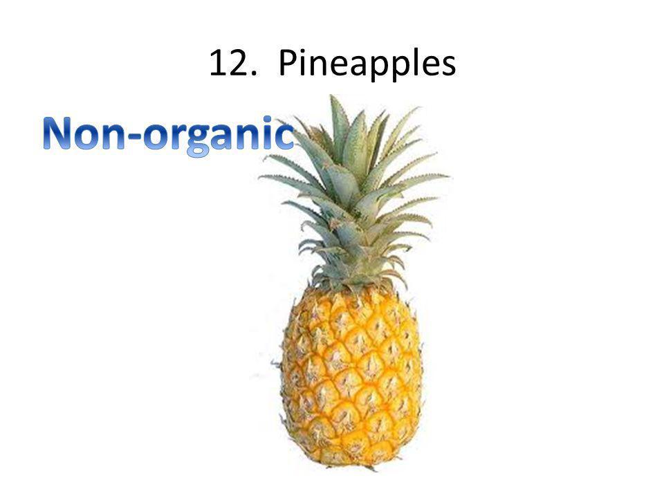 12. Pineapples