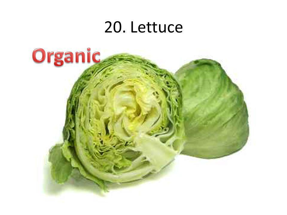 20. Lettuce