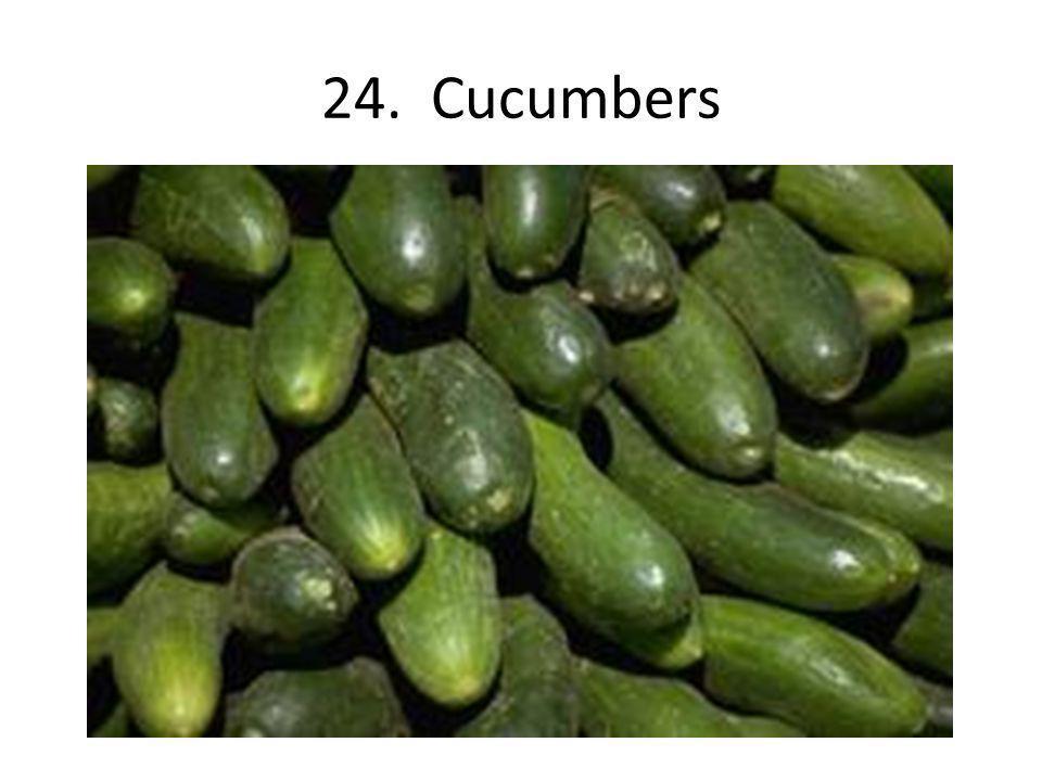 24. Cucumbers