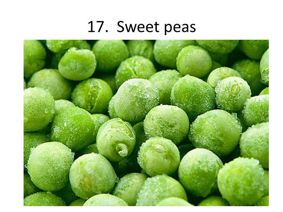 17. Sweet peas