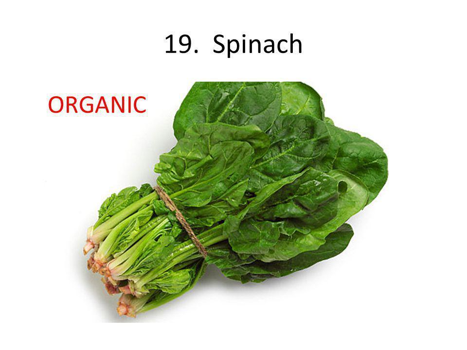 19. Spinach ORGANIC