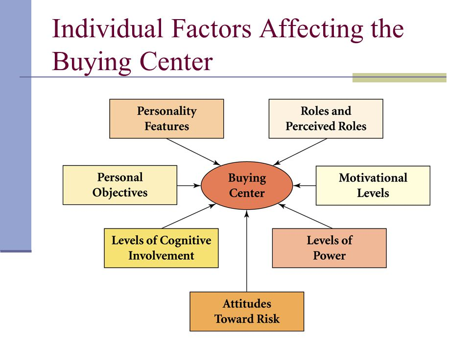 Individual Factors Affecting the Buying Center