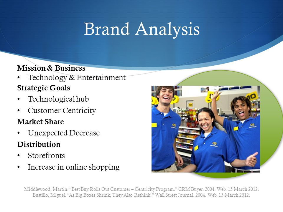 Brand Analysis Middlewood, Martin. Best Buy Rolls Out Customer – Centricity Program.
