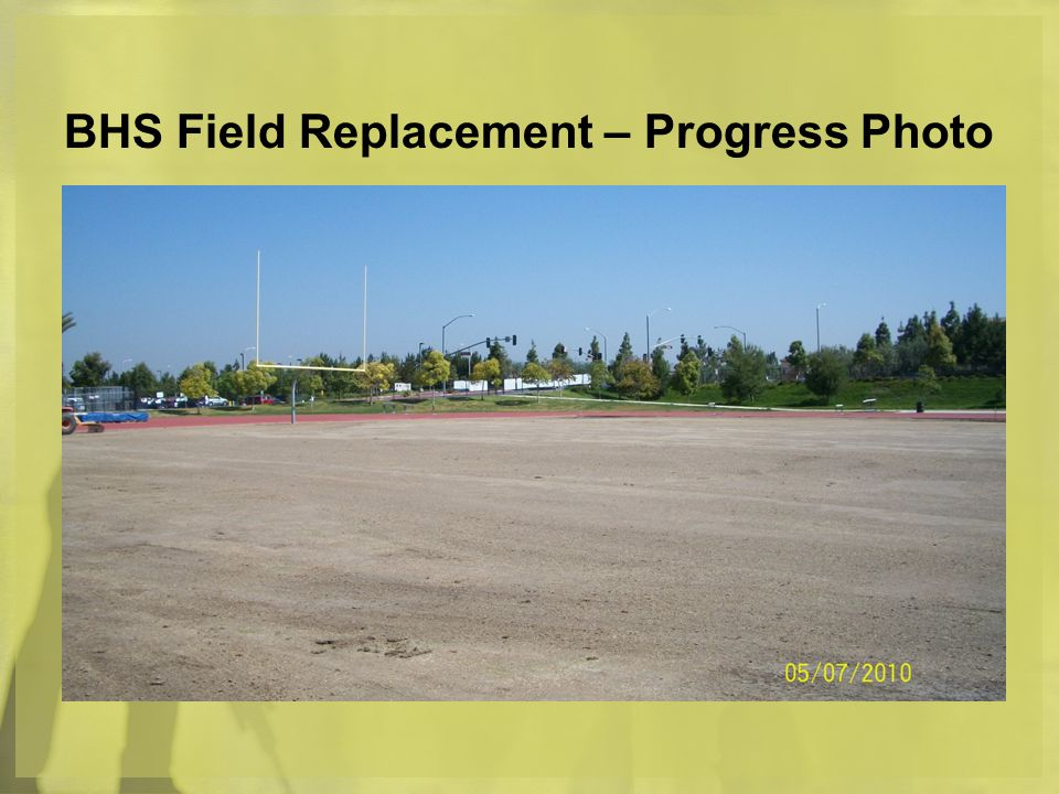 BHS Field Replacement – Progress Photo