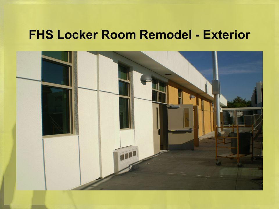 FHS Locker Room Remodel - Exterior