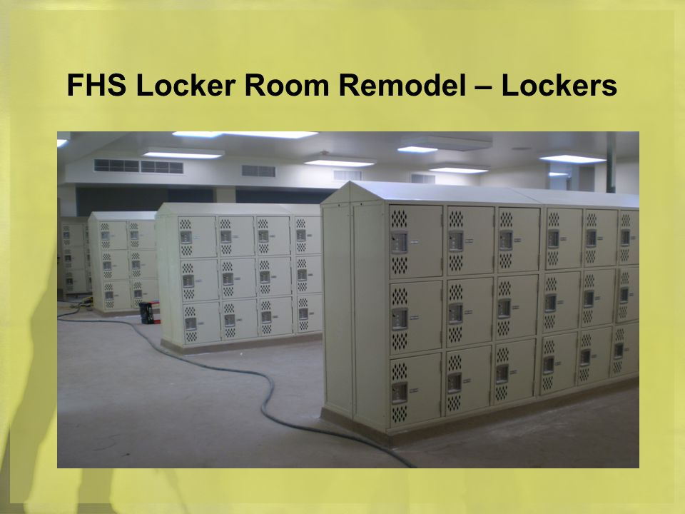 FHS Locker Room Remodel – Lockers