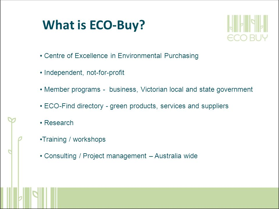 What is ECO-Buy.