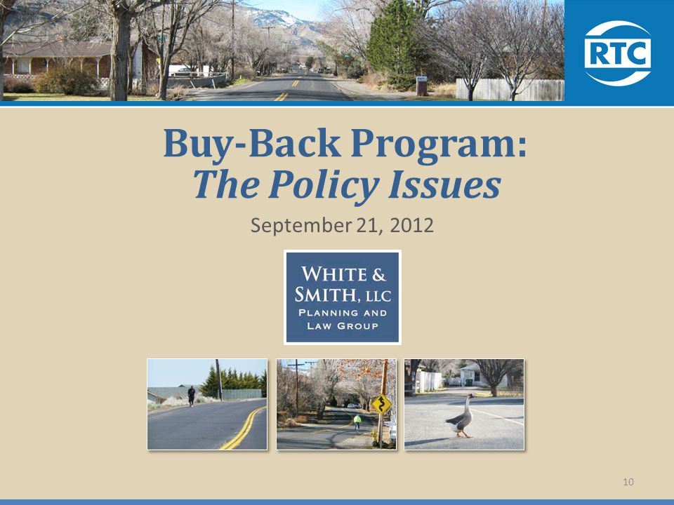 Buy-Back Program: The Policy Issues September 21, 2012 10