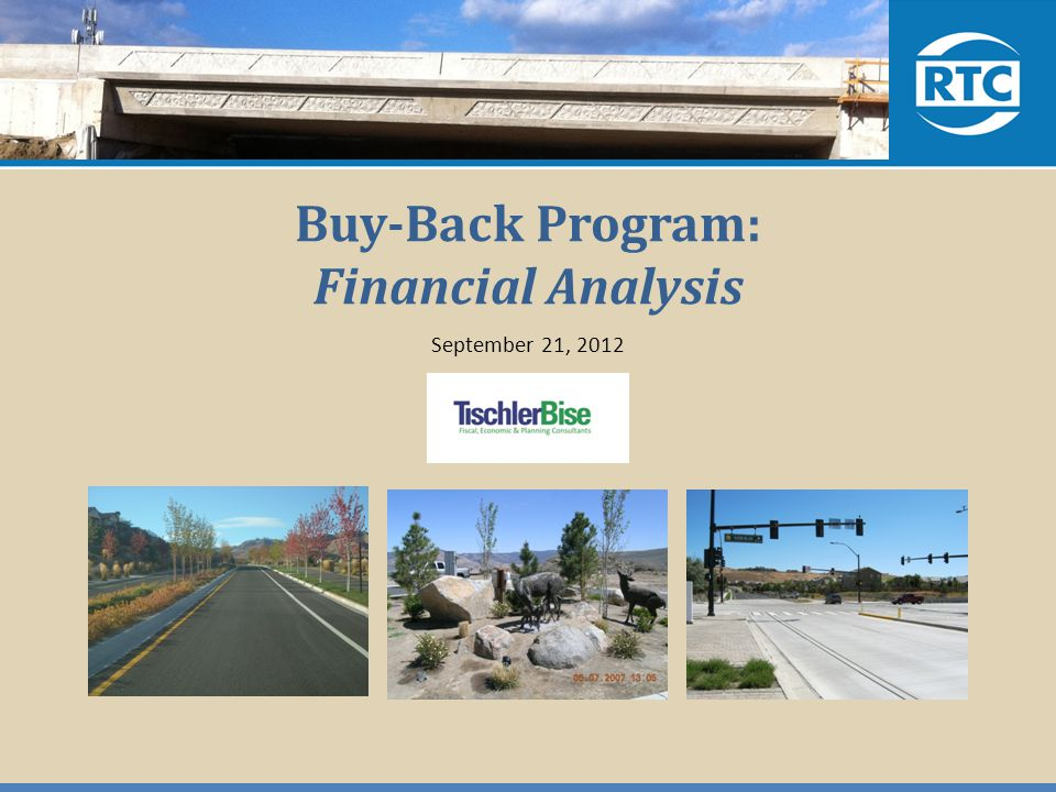 Buy-Back Program: Financial Analysis September 21, 2012