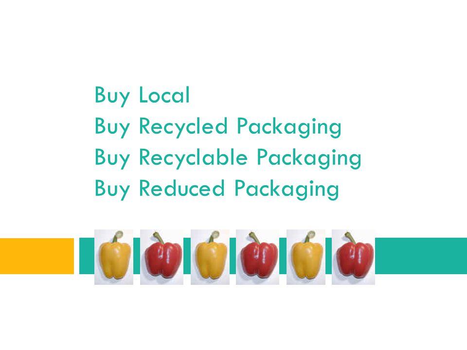 Buy Local Buy Recycled Packaging Buy Recyclable Packaging Buy Reduced Packaging