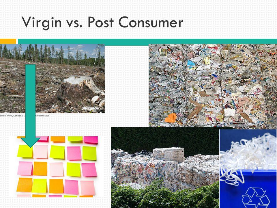 Virgin vs. Post Consumer