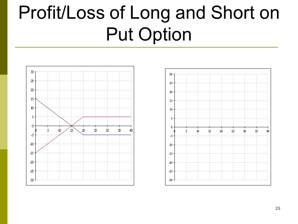 25 Profit/Loss of Long and Short on Put Option