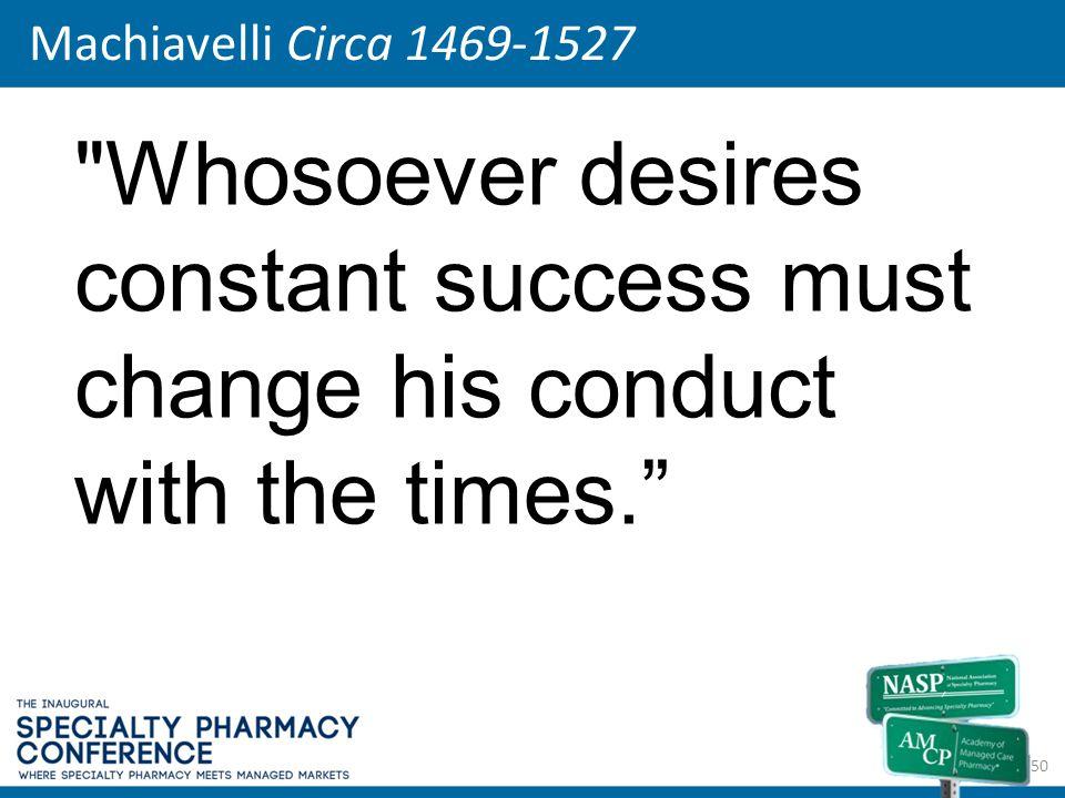 Machiavelli Circa 1469-1527 50
