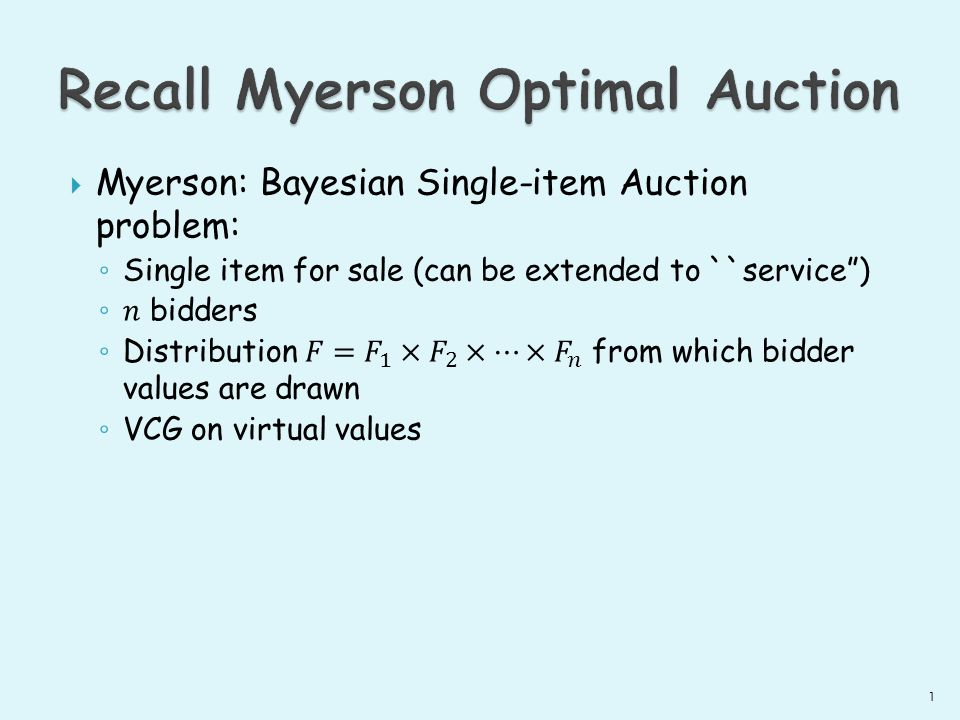 What about Myerson when bidders are correlated.