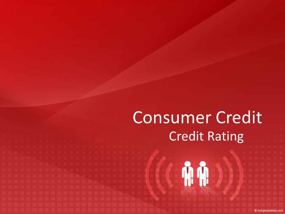 Consumer Credit Credit Rating