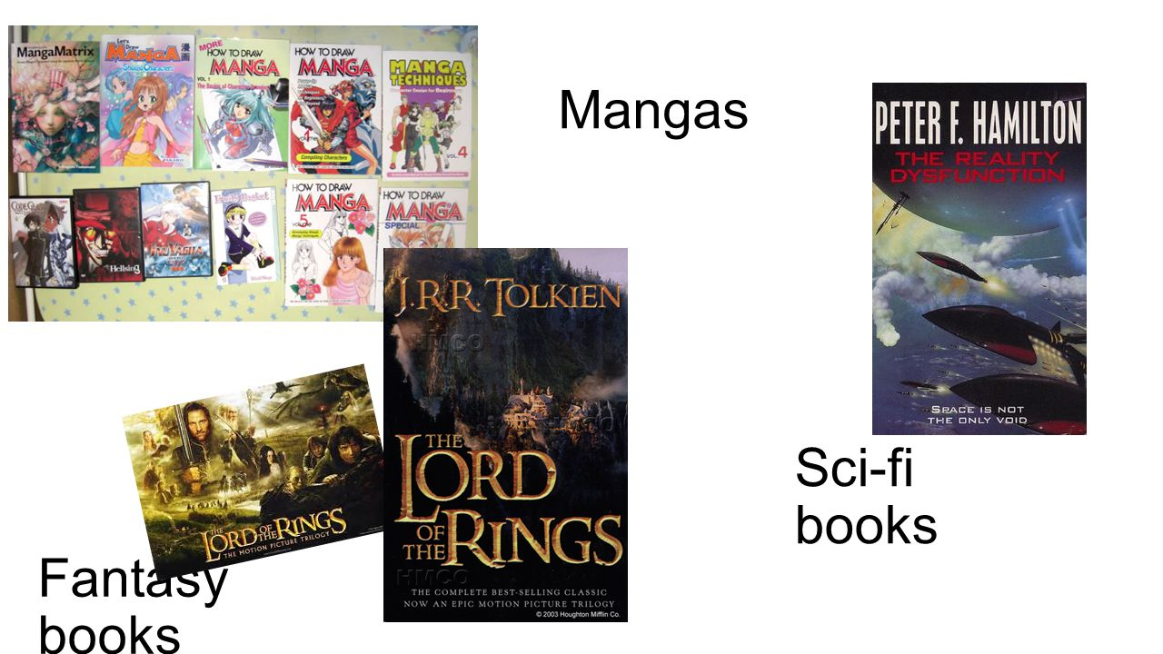 Mangas Fantasy books Sci-fi books