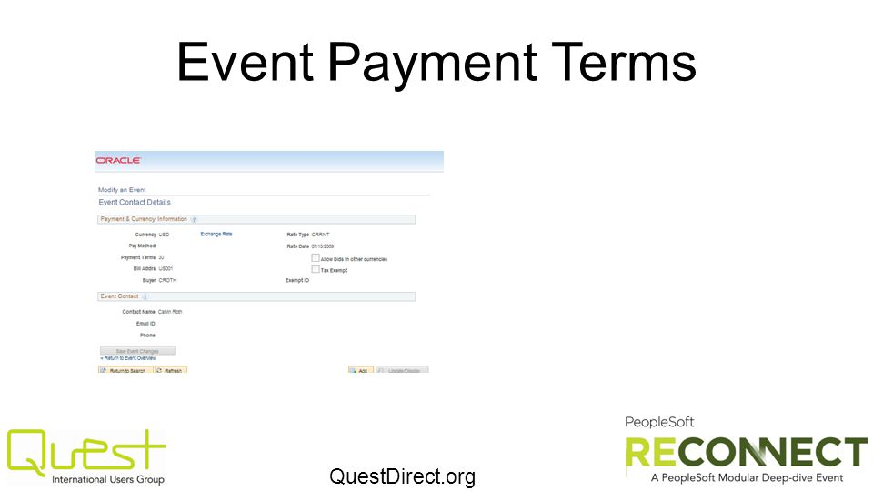 QuestDirect.org Event Payment Terms