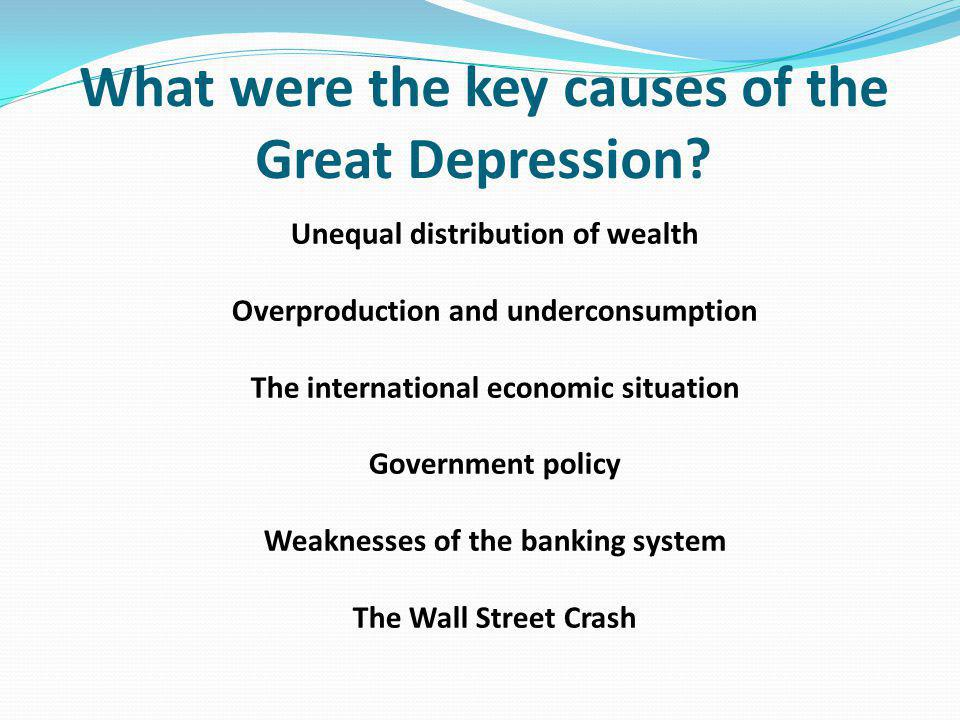 What were the key causes of the Great Depression.