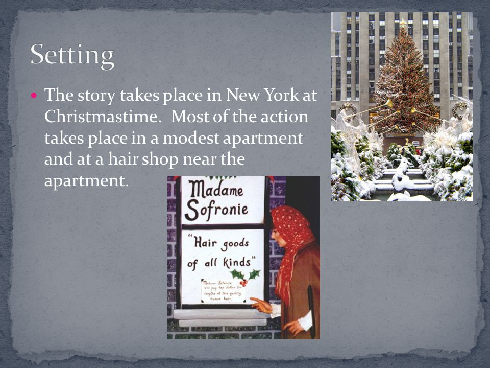 The story takes place in New York at Christmastime.