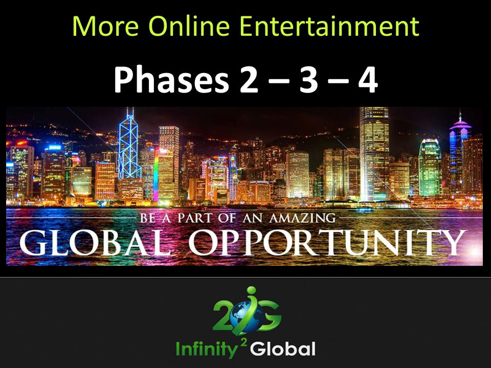 More Online Entertainment Phases 2 – 3 – 4