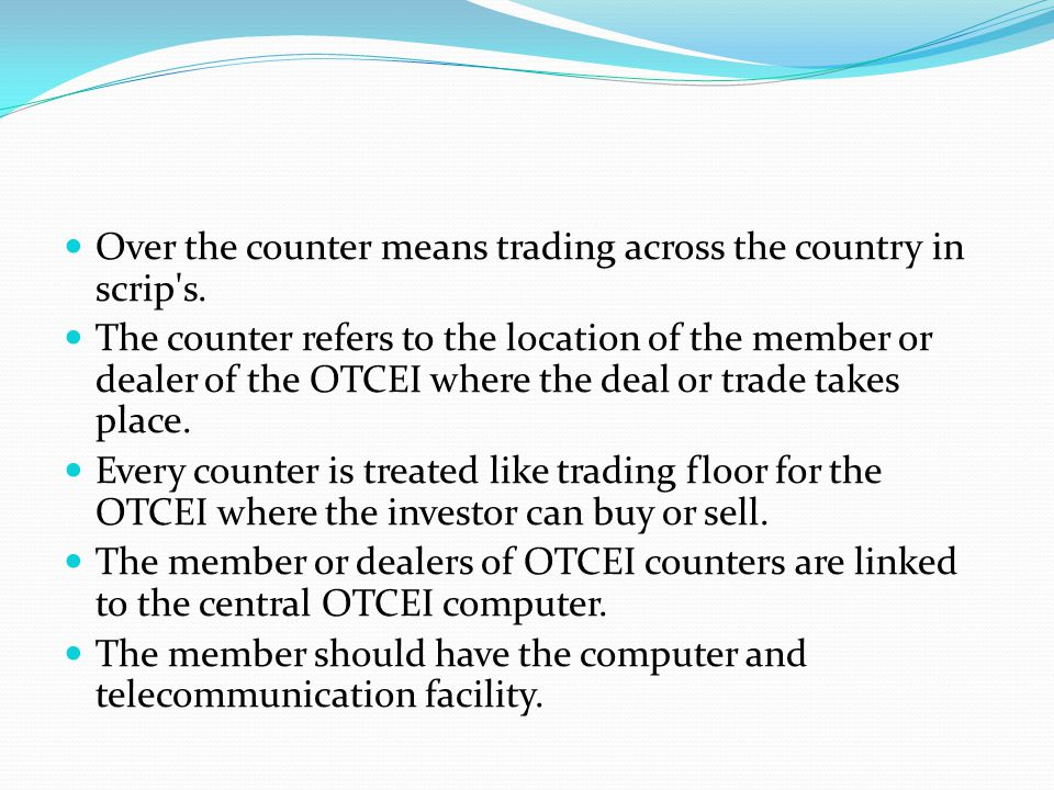 The promoters OTCEI is incorporated as a company under section 25(c) of Indian companies act 1956.
