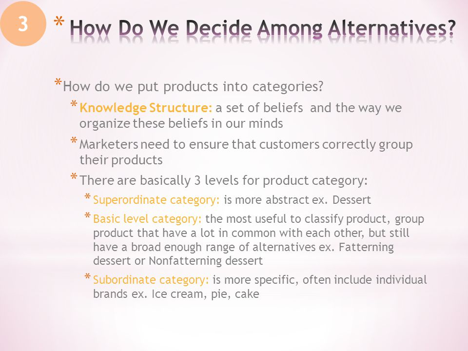 * How do we put products into categories.