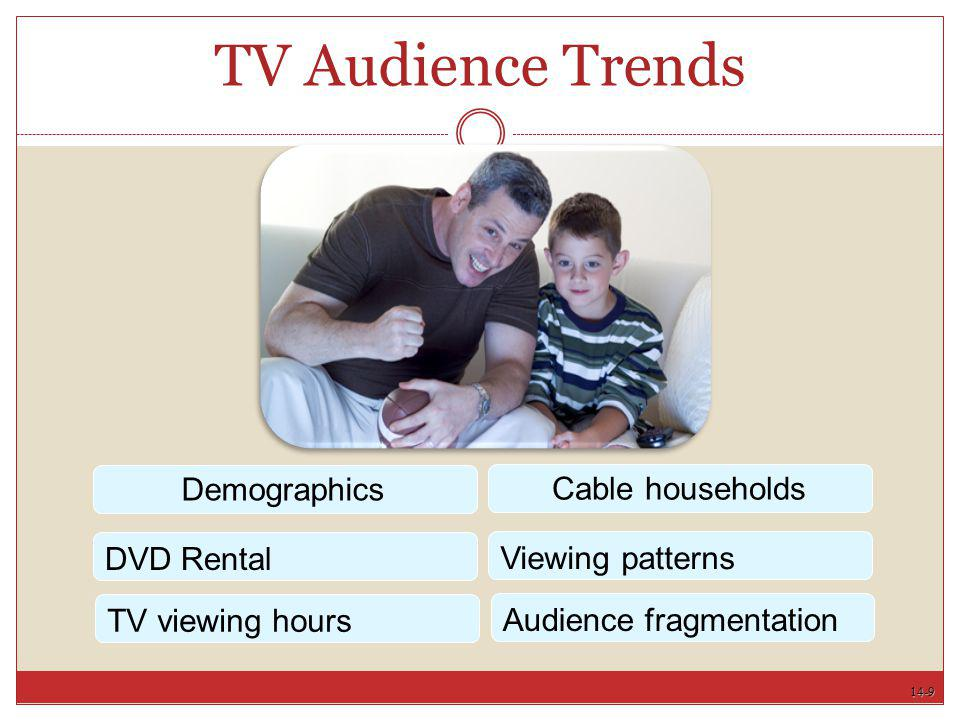 14-9 TV Audience Trends Demographics DVD Rental Cable households Viewing patterns TV viewing hours Audience fragmentation