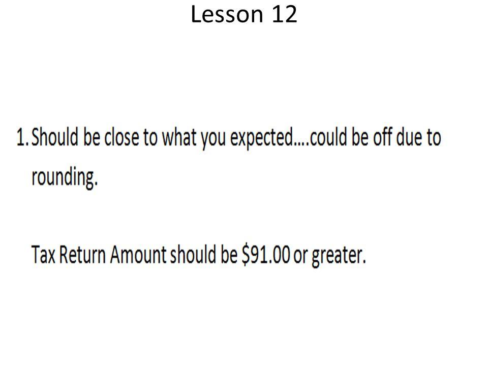 Lesson 12