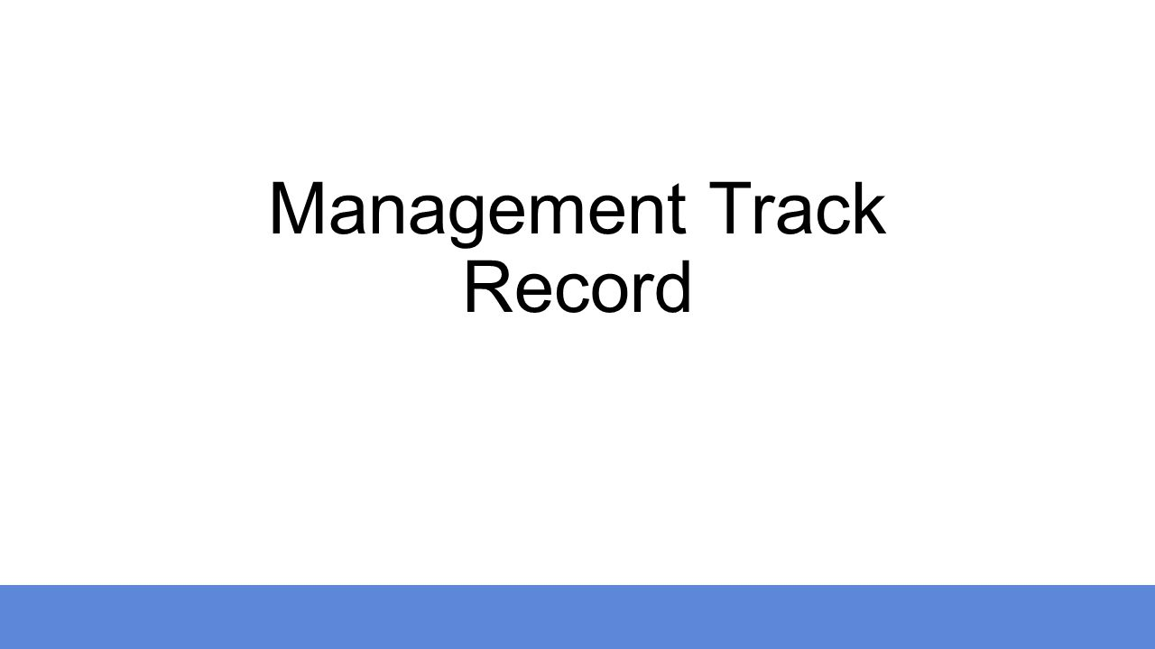 Management Track Record