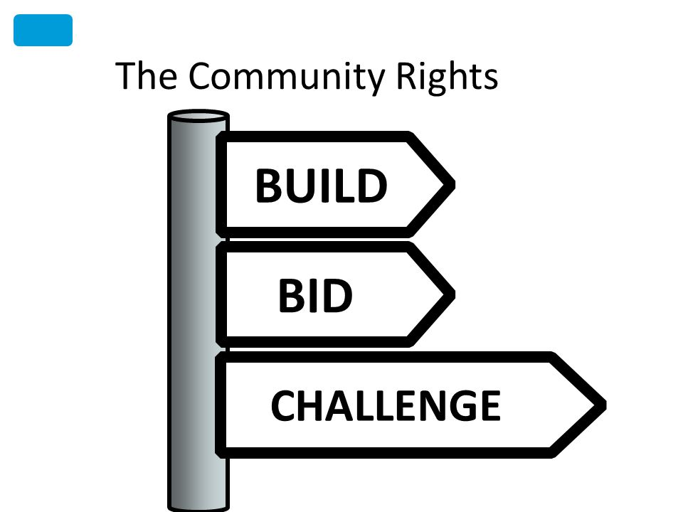 The Community Rights BUILD BID CHALLENGE